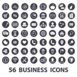 Ícones do negócio ajustados ilustração stock