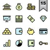 Ícones do negócio ajustados Imagem de Stock Royalty Free