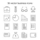 Ícones do negócio ajustados Imagens de Stock Royalty Free