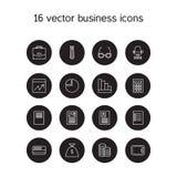 Ícones do negócio ajustados ilustração do vetor