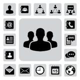 Ícones do negócio ajustados. Ilustração Fotografia de Stock Royalty Free