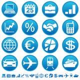 Ícones do negócio & do transporte Imagem de Stock Royalty Free