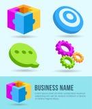 Ícones do negócio, bandeira, elemento do projeto, mercado Imagem de Stock Royalty Free