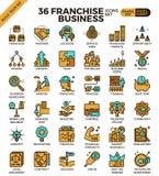 Ícones do negócio da concessão Fotografia de Stock Royalty Free