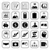 Ícones do negócio, do escritório & da finança ajustados Fotos de Stock Royalty Free
