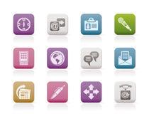 Ícones do negócio, do escritório e do Internet Fotografia de Stock Royalty Free