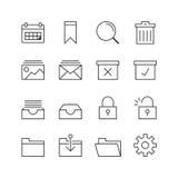 Ícones do negócio & do escritório - Vector a ilustração, linha ícones ajustados ilustração royalty free