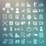 Ícones do negócio e ícones da finança ajustados 2 no fundo da retina Foto de Stock