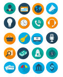 Ícones do negócio e da finança Foto de Stock Royalty Free
