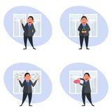 Ícones do negócio e da finança Imagens de Stock