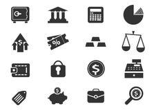 Ícones do negócio e da finança Fotografia de Stock Royalty Free