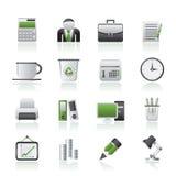 Ícones do negócio e do escritório Imagens de Stock