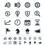 Ícones do negócio e do escritório ilustração stock