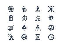 Ícones do negócio e do escritório Foto de Stock