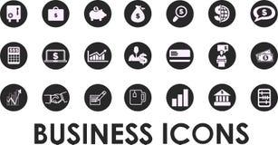 Ícones do negócio, gestão e recursos humanos set1 Vetor EPS 10 Fotos de Stock Royalty Free