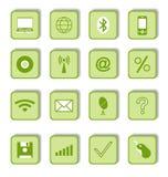 Ícones do negócio para o projeto de Web ilustração stock