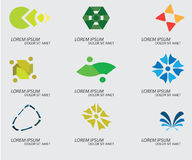 Ícones do negócio tais como o logotipo Fotos de Stock Royalty Free