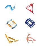 Ícones do negócio tais como o logotipo Foto de Stock