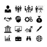 Ícones do negócio, vetor Fotos de Stock Royalty Free