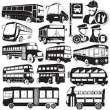 Ícones do ônibus Fotografia de Stock Royalty Free