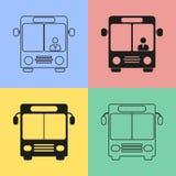 Ícones do ônibus Fotos de Stock Royalty Free