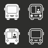 Ícones do ônibus ajustados Foto de Stock