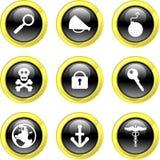 Ícones do objeto ilustração stock