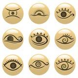 Ícones do olho ilustração royalty free