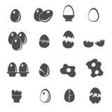 Ícones do ovo ajustados Imagens de Stock