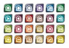 Ícones do painel de controle Imagens de Stock