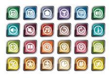 Ícones do painel de controle Foto de Stock Royalty Free