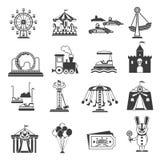 Ícones do parque de diversões ilustração stock