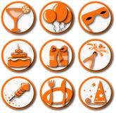Ícones do partido Imagens de Stock