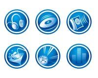 Ícones do partido Foto de Stock Royalty Free