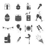 Ícones do partido ajustados Imagem de Stock Royalty Free