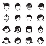 Ícones do penteado ajustados Ilustração do Vetor