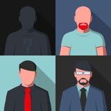 Ícones do perfil do Avatar Fotografia de Stock