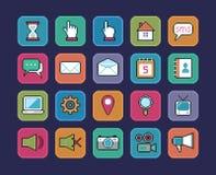 Ícones do pixel ilustração royalty free