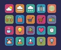 Ícones do pixel ilustração stock