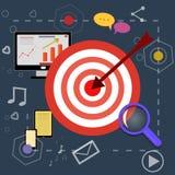 Ícones do planeamento da estratégia com imagens brilhantes Imagem de Stock