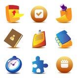 Ícones do planeamento de negócio Fotos de Stock