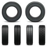 Ícones do pneumático do vetor Imagem de Stock Royalty Free