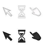 Ícones do ponteiro e do temporizador Fotografia de Stock