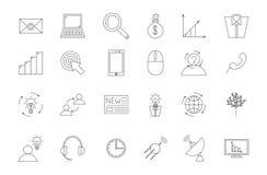 Ícones do preto de Business&communication ajustados Foto de Stock Royalty Free