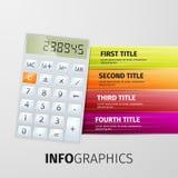 Ícones do progresso para três etapas Imagens de Stock