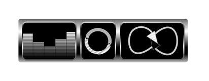 Ícones do projeto da música Foto de Stock