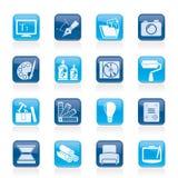 Ícones do projeto do gráfico e do Web site Imagem de Stock Royalty Free