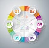 Ícones do projeto e do mercado de Infographic Imagens de Stock Royalty Free