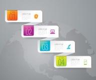 Ícones do projeto e do mercado de Infographic Fotos de Stock Royalty Free