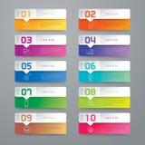 Ícones do projeto e do mercado de Infographic Fotografia de Stock Royalty Free